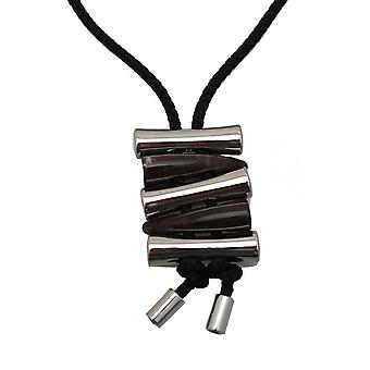 Latte Metal And Tortoiseshell Rope Necklace