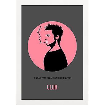 JUNIQE Print -  Fight Club - Filme Poster in Rosa & Schwarz