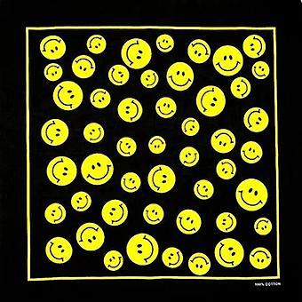 Fashion Yellow Face Smile And Peace Bandanas Headwear Scarf
