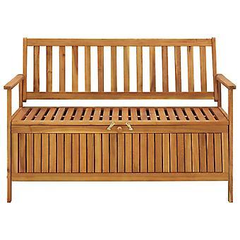 vidaXL banc de jardin avec rangement 120 cm bois massif acacia