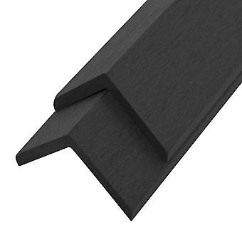 vidaXL Terrace Angle Strips 5 Ps. WPC 170 cm Nero