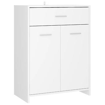 vidaXL Badezimmerschrank Weiß 60x33x80 cm Spanplatte