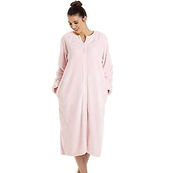 Camille LX67517 Женщины Роскошный Мягкий Флис Розовый Домашний Пальто