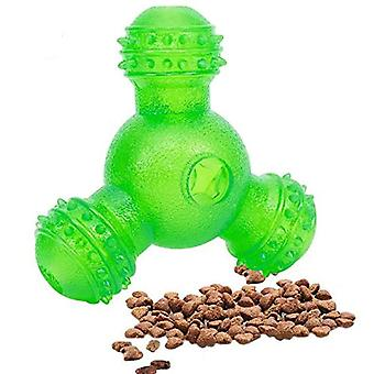 Interactive dog treat ball toys chew dolls 3 holes food dispensing dt5692