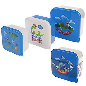 Nessie Design Set von 3 Kunststoff Lunch Boxen