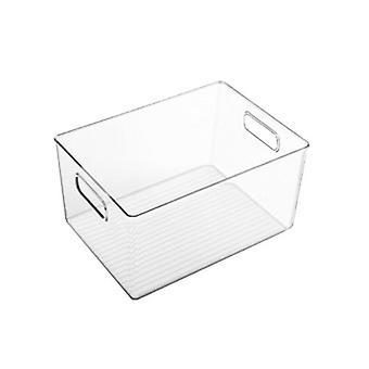 With Side Handle Kitchen Refrigerator Transparent Bookcase Storage Case|Kitchen Cabinet Storage