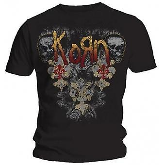 Korn Skulldelis Mens Black T Shirt: Small