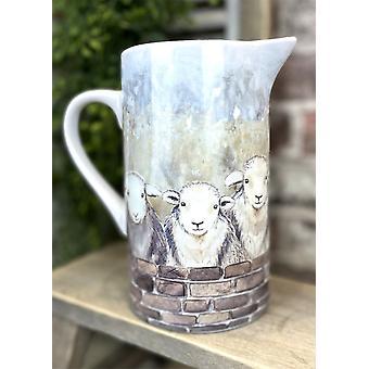 Ceramic Jug with Sheep Design