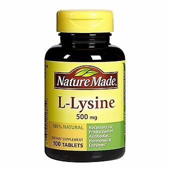 Nature Made L-Lysine, 500 mg, 100 Tabs