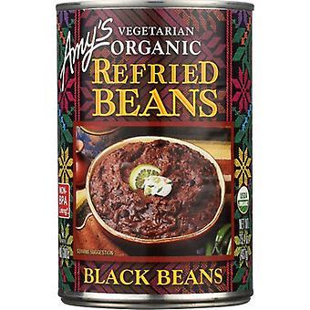 Amys Bean Refried Black Gf, Case of 12 X 15.4 Oz