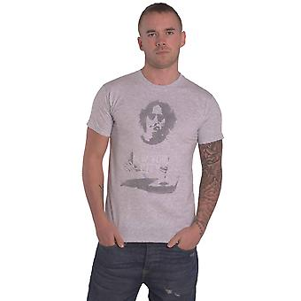 John Lennon T Shirt NYC Portrait Logo new Official Mens Grey