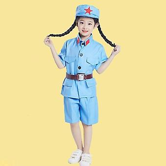 Vêtements de l'Armée rouge chinoise pour enfant Cosplay Uniforme militaire 0637