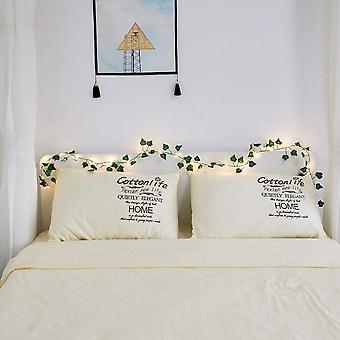 4 st 2 M 20 Leds Konstgjorda Växter Led Strängljus Strängljus Grönt Blad Murgröna Vinstockar För Bröllopshuset Inredning