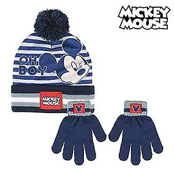 Hat & Gloves Mickey Mouse (One size) Navy Blue