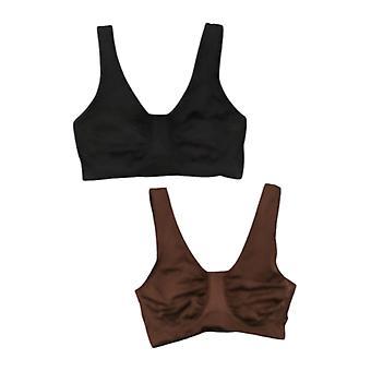 Rhonda Shear 2-Pack Moisture-Wicking Underwire Bra Noir 749424