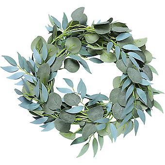 Künstliche Pflanzen, Hängende Deko Pflanze, Weidenblättern & Eukalyptus Girlande, Dekorative