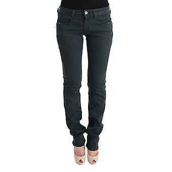 Gray cotton superslim denim jeans