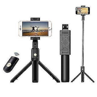 3 az 1-ben összehajtható vezeték nélküli Bluetooth Selfie Stick iphone/Android/Huawei(Fekete) telefonhoz