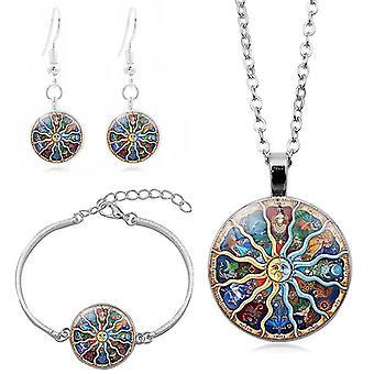 Women Sun Moon Jewelry Set