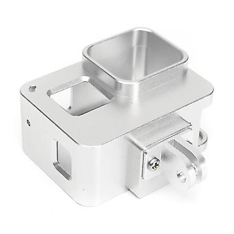 Aluminum Alloy Protective Frame Housing Case With Back Cover For Gopro Hero 5 silver