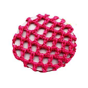 12 pezzi elastico capelli snood rete fatto a mano uncinetto perla parrucchiere per capelli per prestazioni di danza