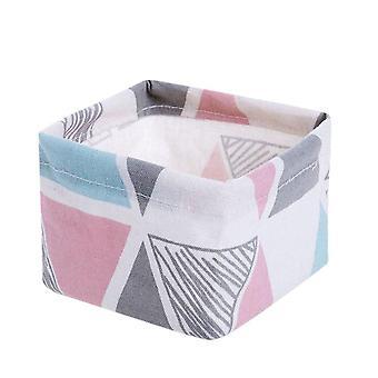 4Pcs Cloth Art Stationery Receives Box Desktop Storage Basket Cosmetics Jewelry Underwear Sock