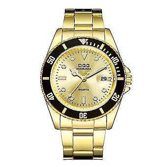 Men's Waterproof Chain Band Sports Watch(Gold)