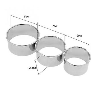 3pcs /set Stainless Steel Round Dumplings Molds Cutter Maker Cookie Cake Pastry Wrapper Dough Cutting Accessories Kitchen Gadget