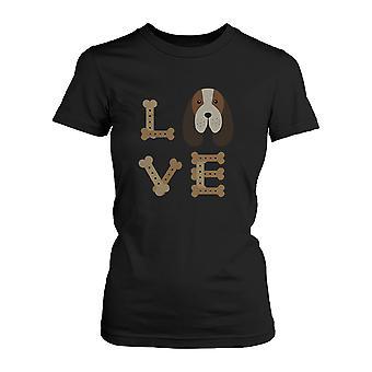 Della maglietta carina Basset Hound amore femminile per proprietario di cane cucciolo camicia stampa