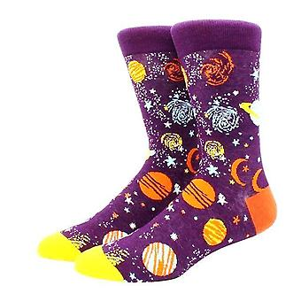 Purple Outer Space Socks With Planets Socks (Adult Large)  from the Sock Panda