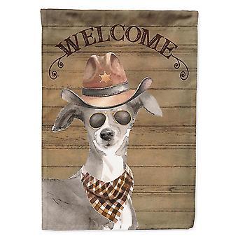 Flags windsocks carolines treasures ck6336gf italian greyhound country dog flag garden size