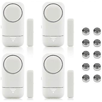 Safety warning signs 4pcs door alarm and window wireless magnetic sensor for home safety safety safety children -