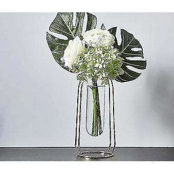 Vases nordic style gold plated eco friendly metal decor vases with flowers golden height 24cm13