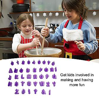 40 Pcs English Letter Number Cookie Molds Plastic Baking Decorating Tools