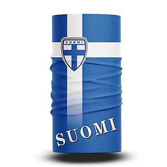 ネックガイターズフットボールヘッドスカーフワールドカップファン男性と女性多機能カラースポーツライディング日焼け止めビブ - フィンランドチーム