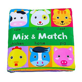 0-24 Months Baby Soft Book Educational Toys Cognitive Color Objects Early Education-b
