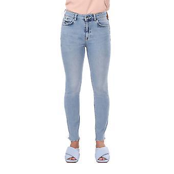 skinny kvinners åpne denim jeans