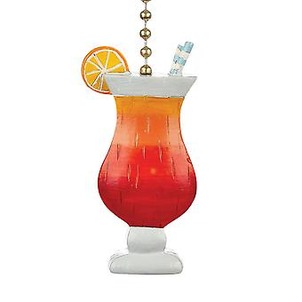 Beachy Fruity Drink Decorative Ceiling Fan Light Dimensional Pull