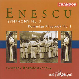 G. Enescu - Enescu: Symfonie No.3 / eerste Roemeense Rhapsody [CD] USA import