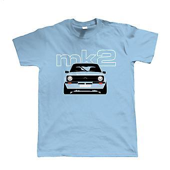 Mk2 Escort T shirt, present till pappa honom födelsedag Ford bil