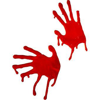 Blood Hands ablak dekoráció vér Hand horror Halloween