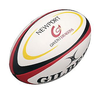 GILBERT Newport Gwent Dragons Midi Rugby pallo