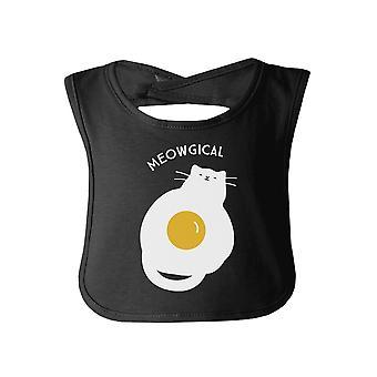 القط ميووجيكال طفل أسود مريلة لطيف القط بيبي المريلة هدية القط أمي الهدايا