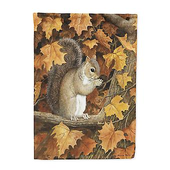 Autumn Grey Squirrel by Daphne Baxter Flag Canvas House Size