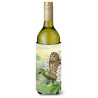Tawny Owl Wine Bottle Beverage Insulator Hugger