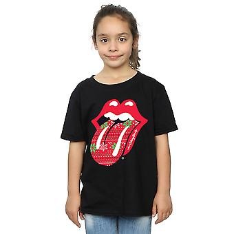 Rolling Stones Girls Christmas Tongue T-Shirt