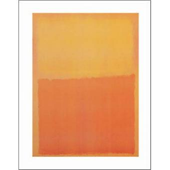 Orange och gula affisch Skriv av Mark Rothko (11 x 14)