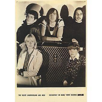 Velvet Underground BW Group W Nico affisch affisch Skriv