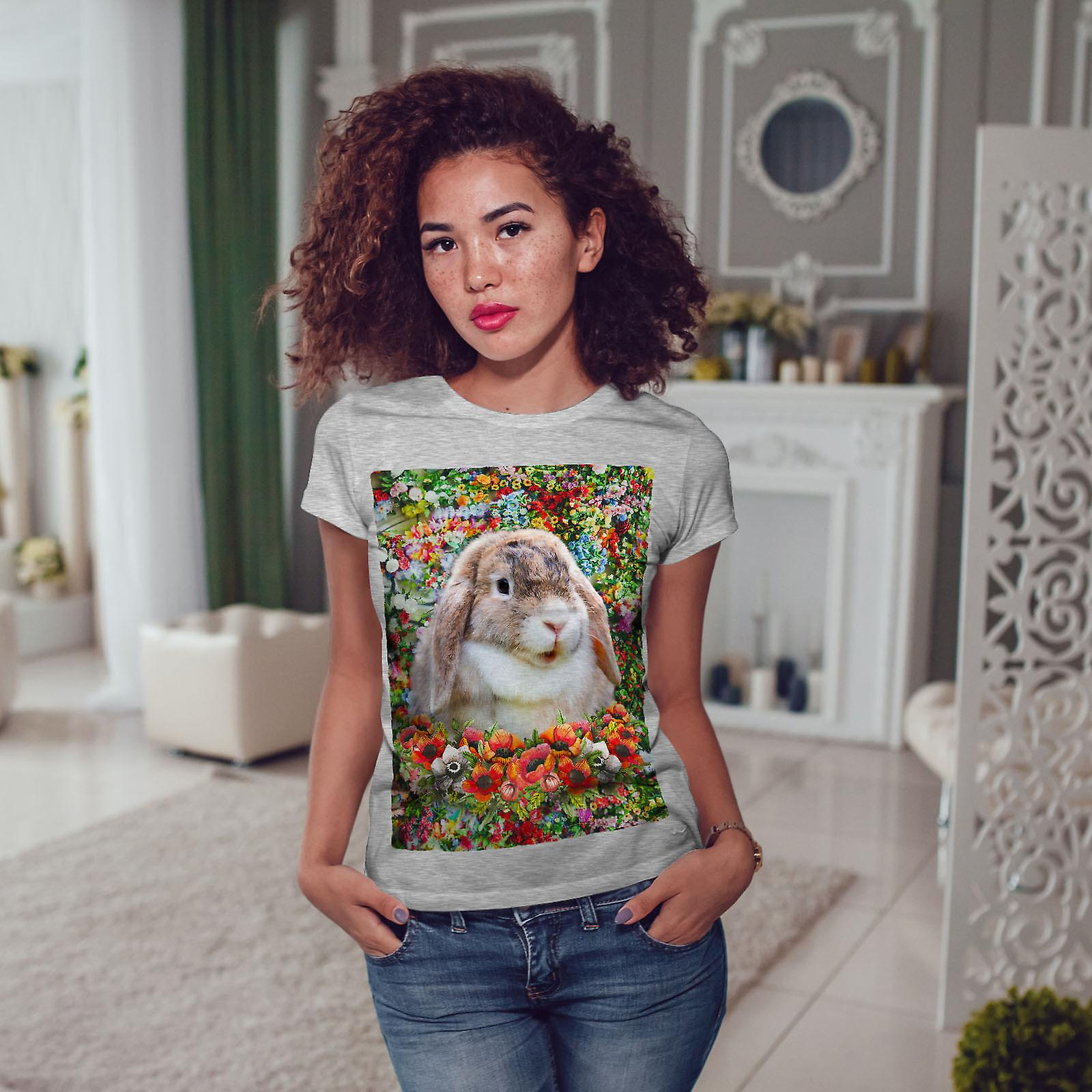 Bunny GreyT-chemise de femme Animal mignon Nature | Wellcoda