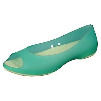 Dames Crocs platte Ballerina schoenen Carlie Flat